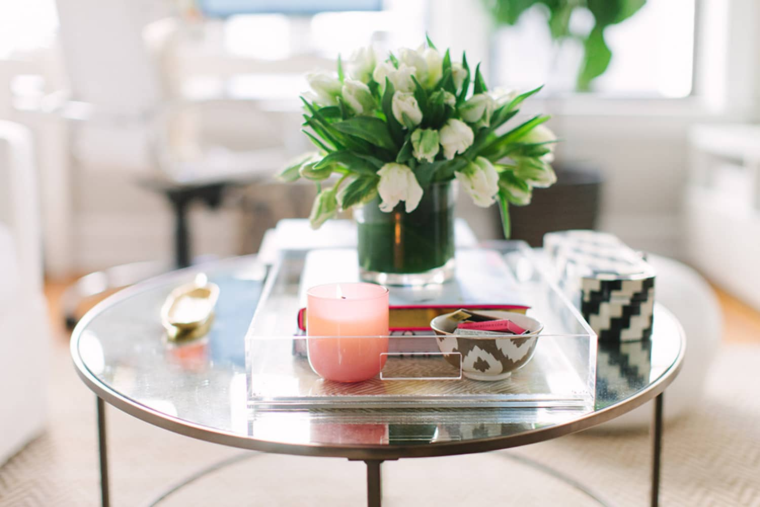 How to Style Your Coffee Table So You Can Actually Still Use It | Apartment Therapy