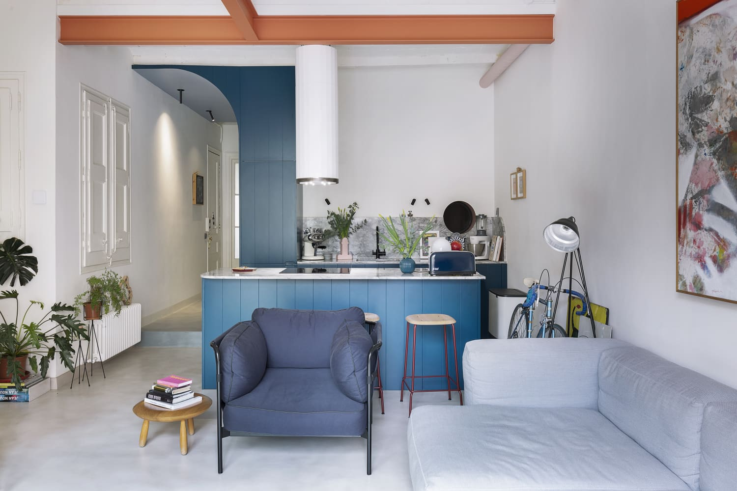 This Modern Remodel's Kitchen and Bathroom Color Palette Is Eye-Popping