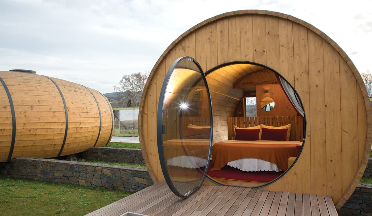 Calling All Wine Lovers: Be One with Your Vino and Stay at This Wine Barrel Hotel