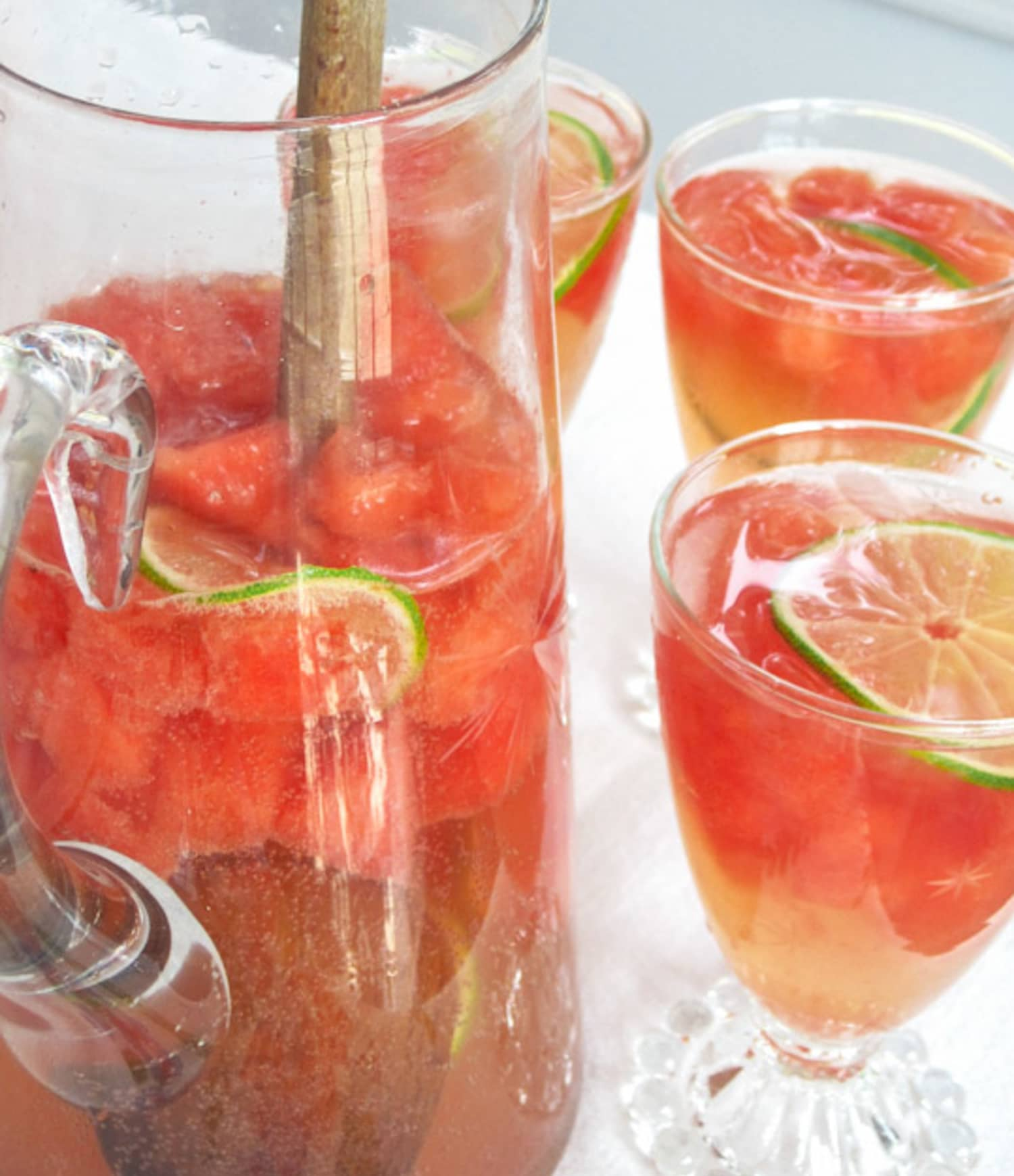 Perfect Pitcher Drink Recipe for Summer: Sparkling Watermelon Sangria