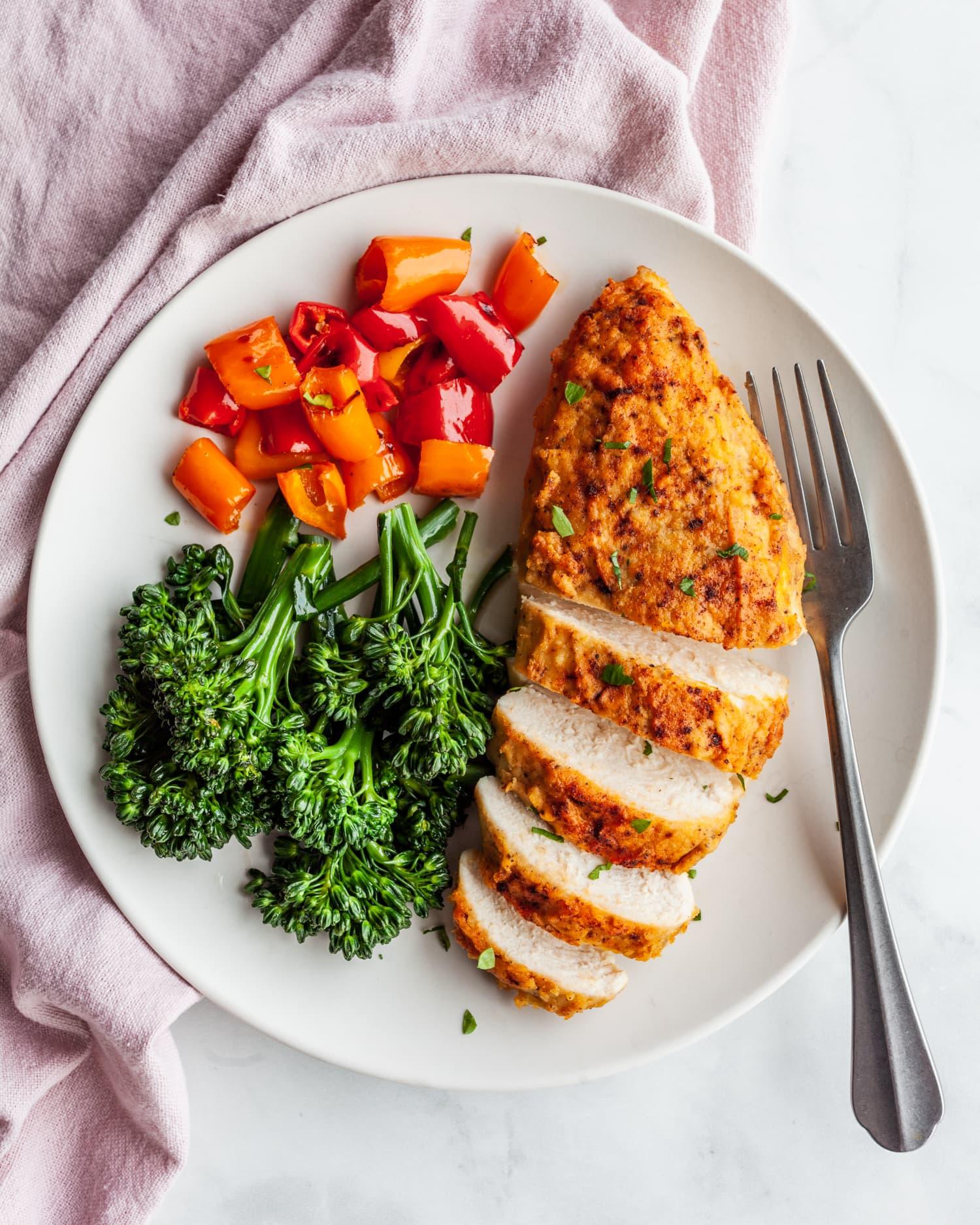 Recipe: 3-Ingredient Hummus-Crusted Chicken