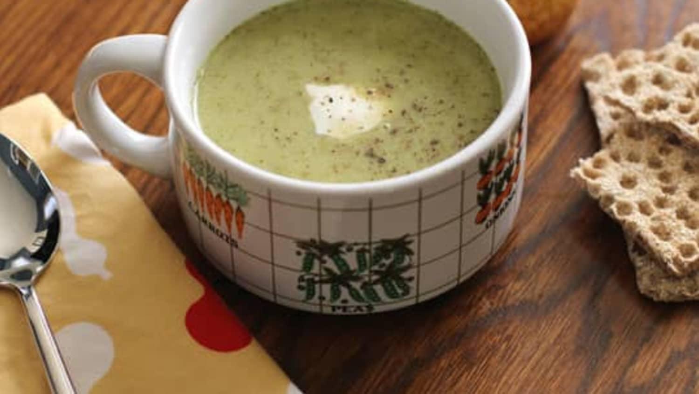 Roasted Broccoli & Cheddar Soup