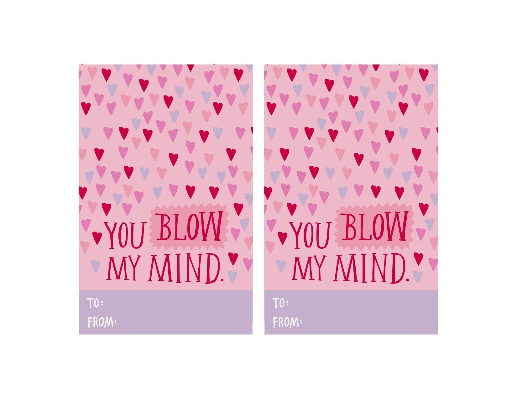 Printable Valentine S Day Card Blow Pop Kitchn