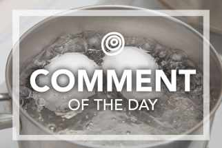 Boiling water with eggs - Comment of the Day