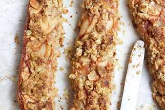 Apple Crumb Bars with a Maple Coffee Glaze