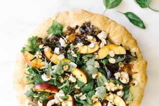 Goat Cheese & Nectarine Pizza Salad