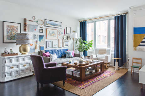 tour a designer s eclectic modern west new york apartment
