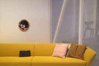 Modern Yellow Sofa at I Salone in Milan