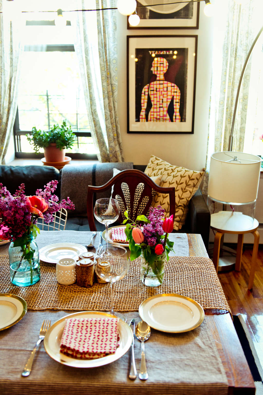 A Spring Vegetarian Dinner for Six: The Party Plan