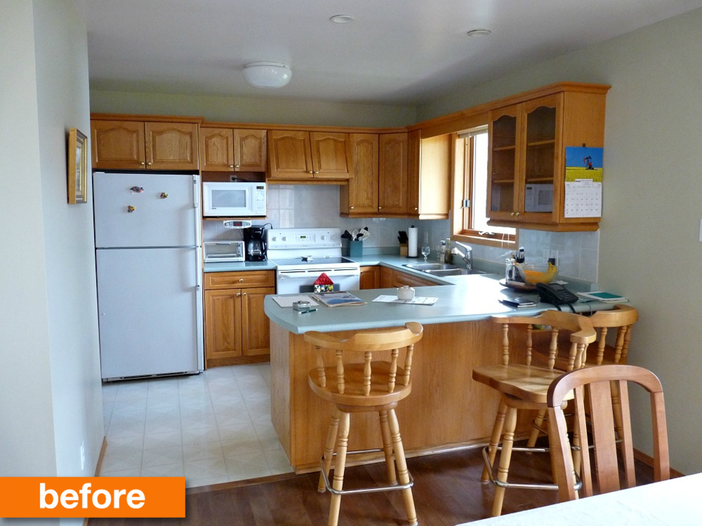 Before & After: A Bright, Budget-Friendly DIY Kitchen Makeover Under $1500