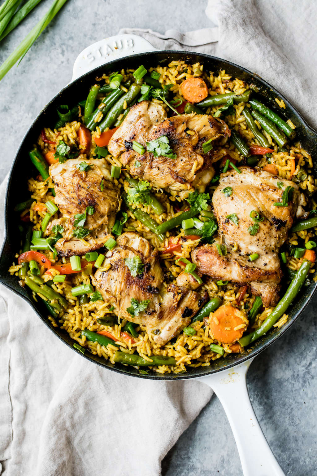 This Coconut Curry Chicken & Rice Cooks in One Pan