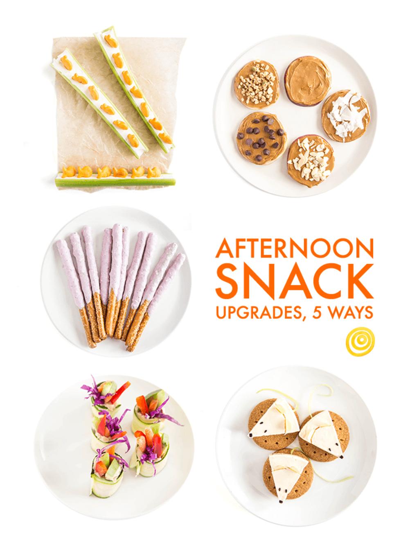 Afternoon Snack Upgrades, 5 Ways