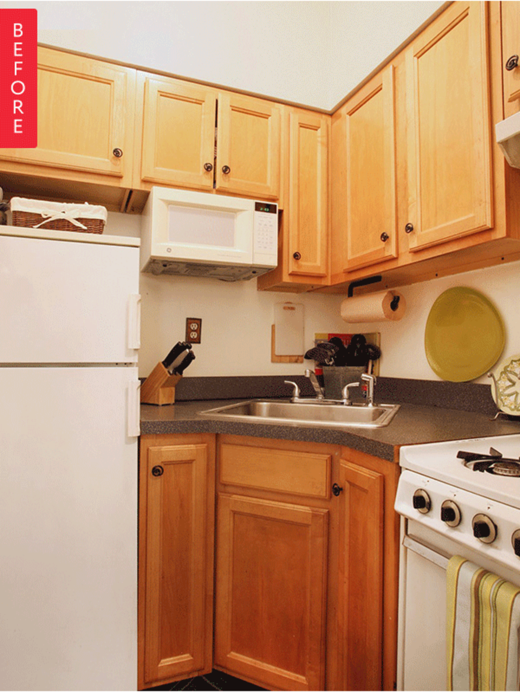 Before & After: A Teeny-Tiny Kitchen Gets Some Serious Style