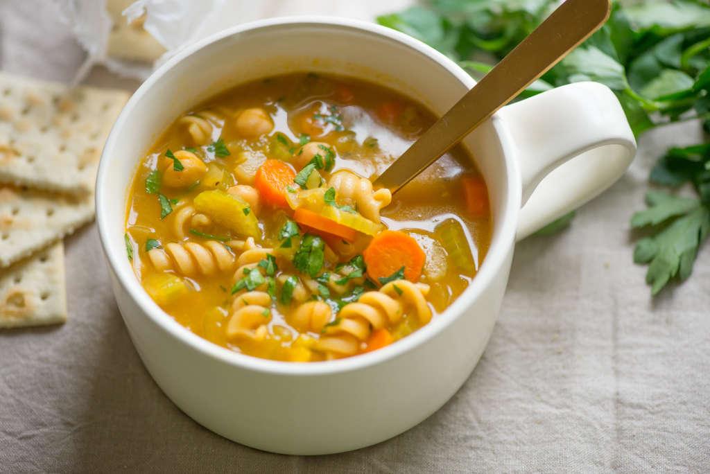 Hearty Vegan Recipe: Chickpea Noodle Soup