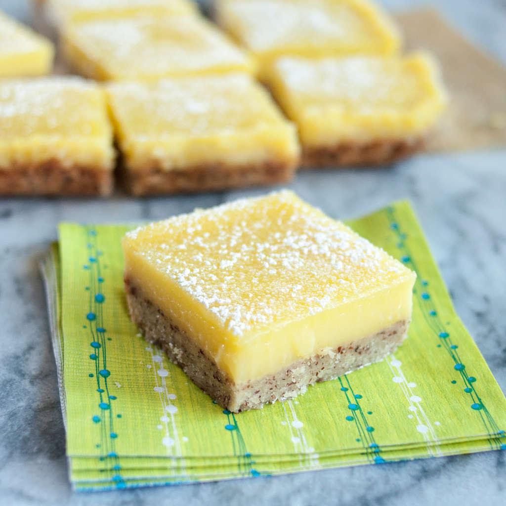 Make-Ahead Lemon Bars with Almond Shortbread Crust