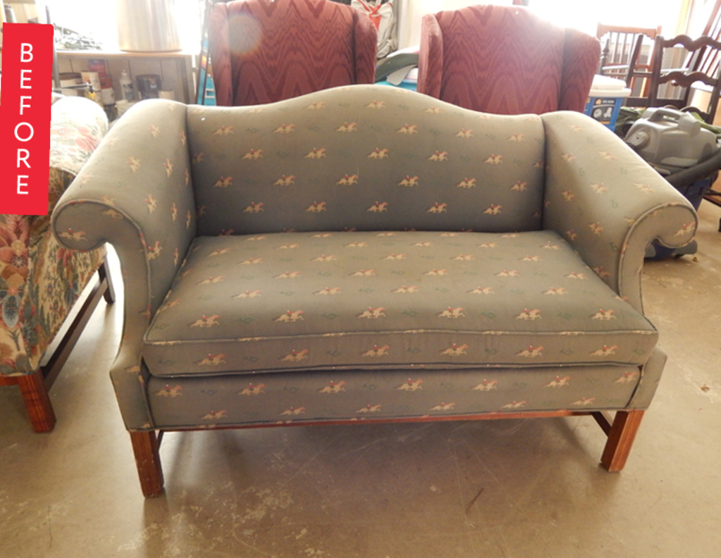 Before & After: A Sad, Old Loveseat Gets a Sassy New Look