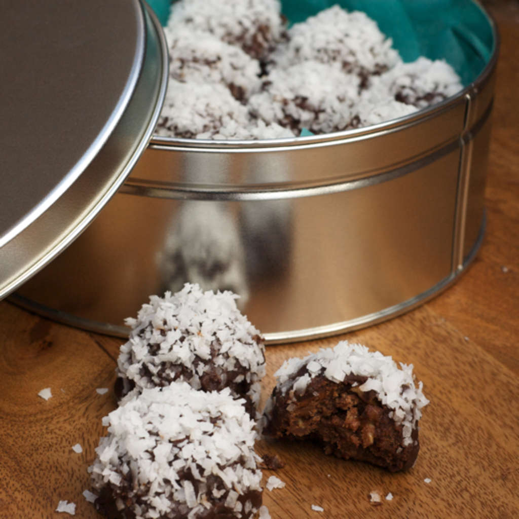 Edible Gift Recipe: Coconut Ganache Bourbon Balls