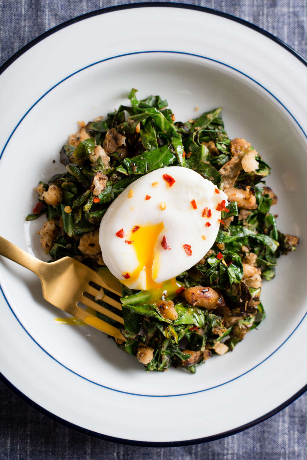 A Vegetarian Beans & Greens Hash for Breakfast or Dinner