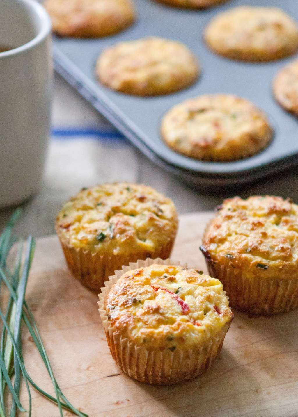 Recipe: Cottage Cheese Muffins with Roasted Red Peppers and Feta
