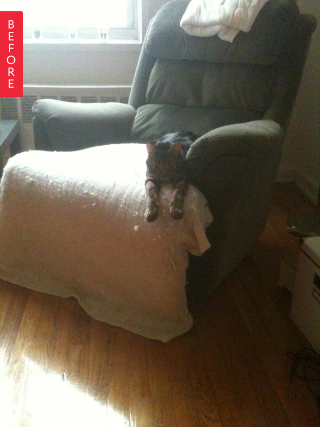 Before & After: A Recliner Makes a Remarkable (& Quick) Recovery