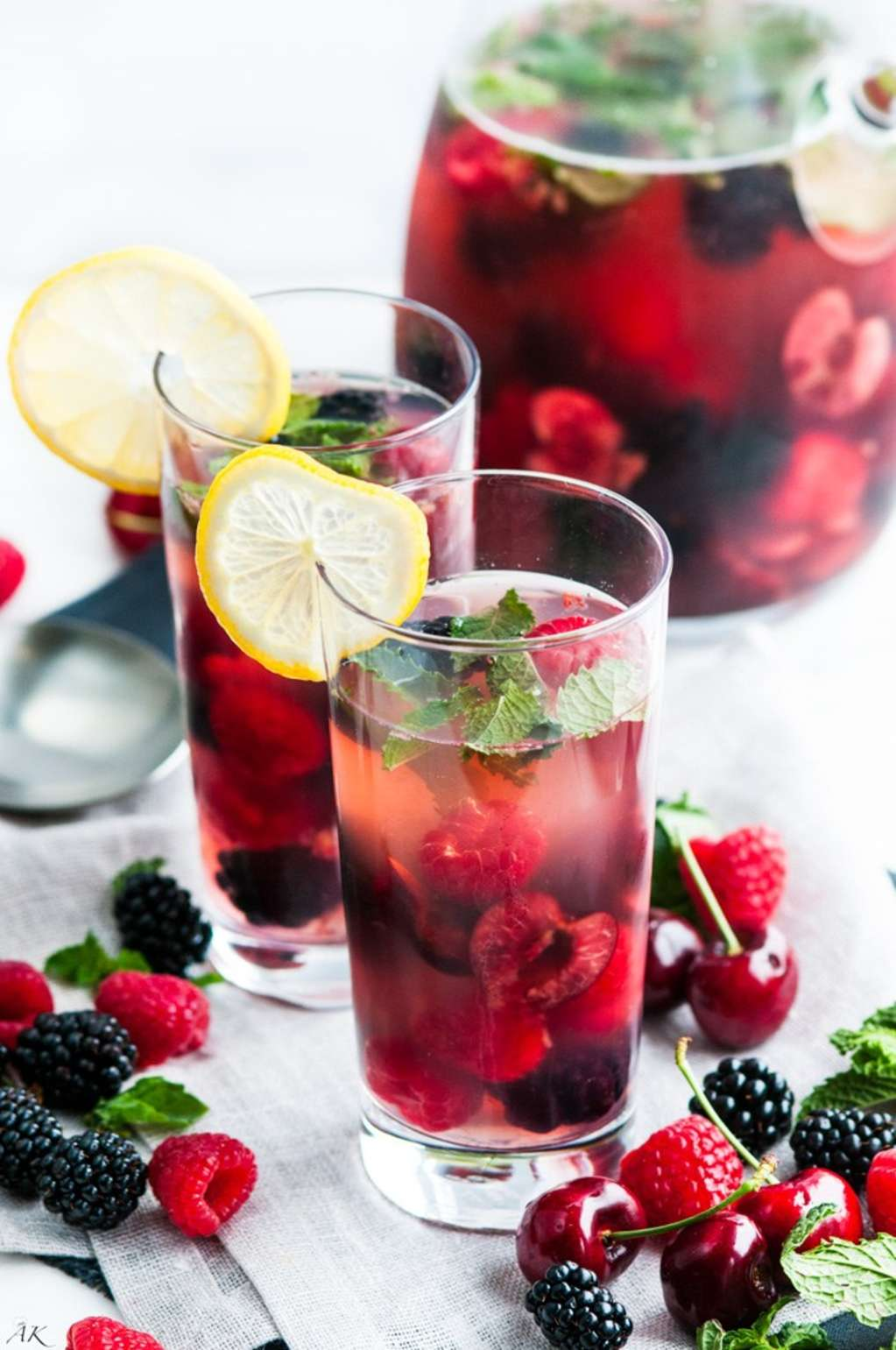 Put Those Cherries & Berries to Use with This Summer Sangria