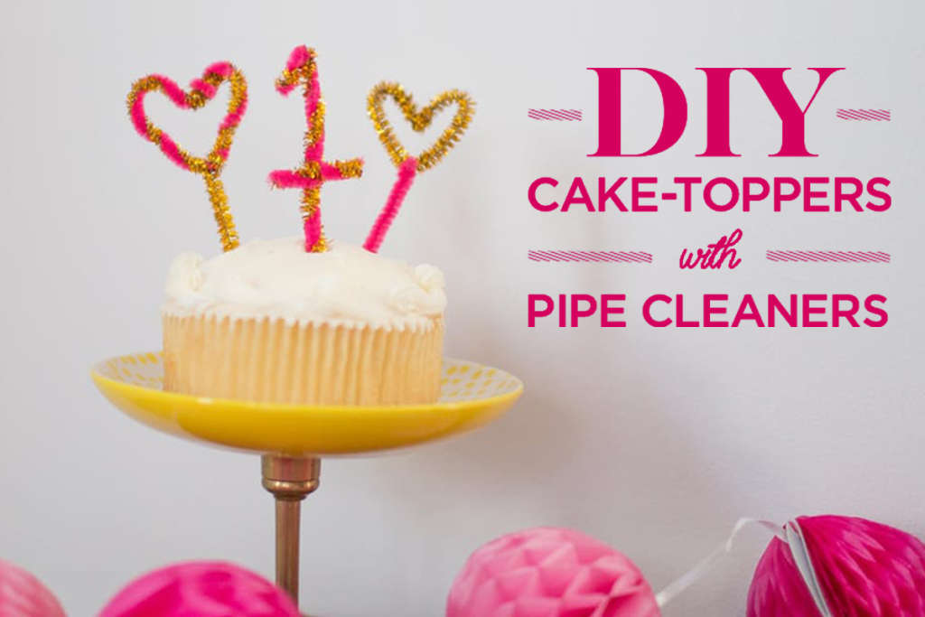 Make Diy Cake Toppers With Pipe Cleaners Kitchn