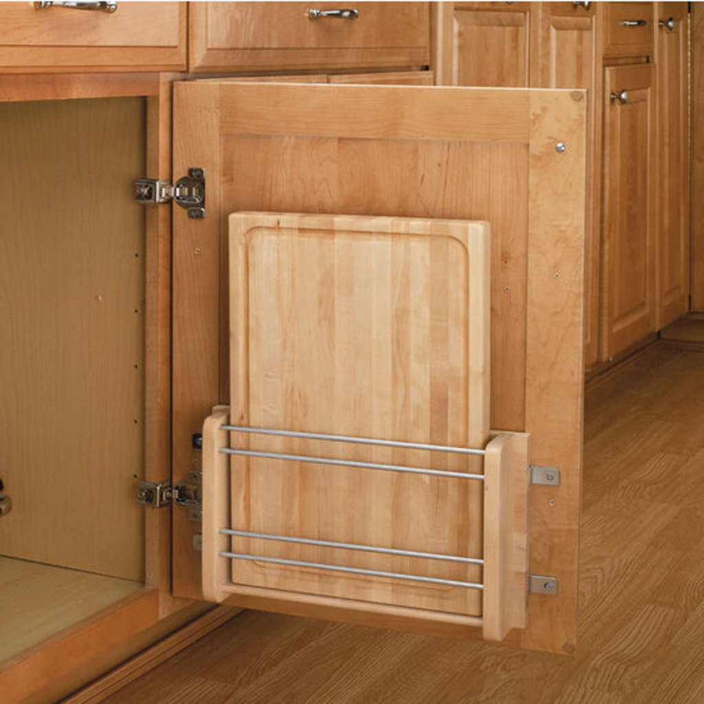 Kitchen Cabinet Space Savers: A Kitchen Space Saver: The Door-Mount Cutting Board From