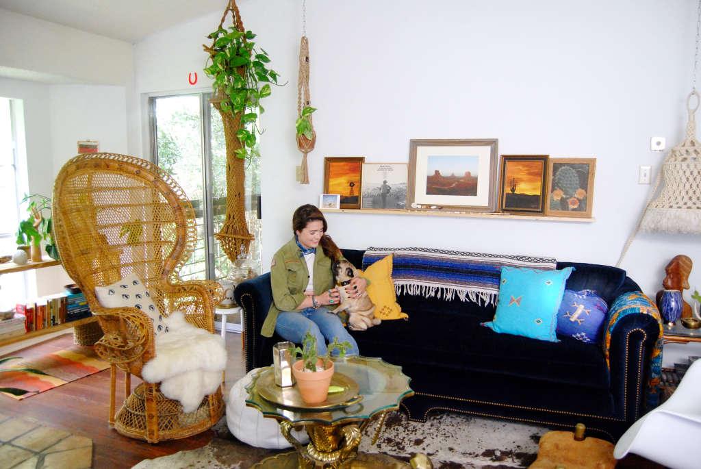 A Southwestern-Inspired Shabby Chic Austin Apartment