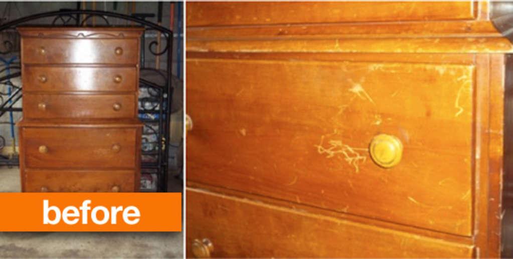 Before & After: DIY Herringbone Dresser