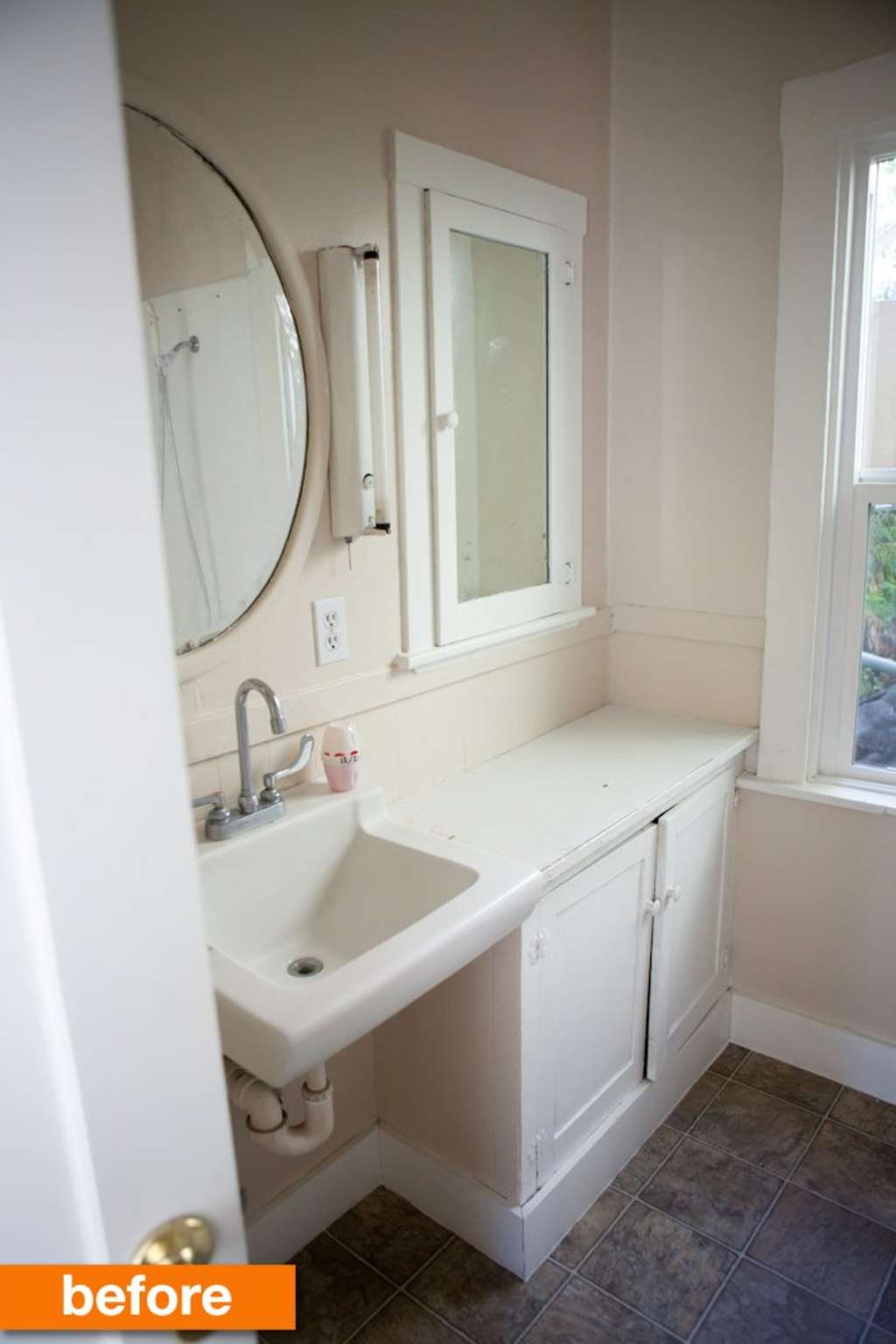Before & After: Megan\'s Modern & Mexican Tile Small Bathroom ...