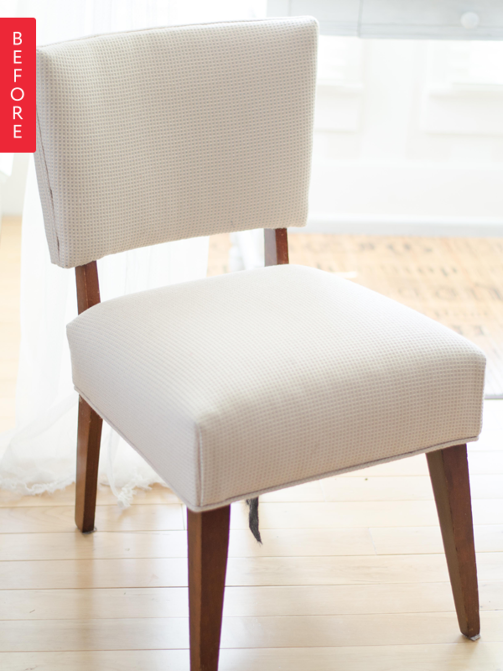 Before & After: A Plain Chair Slips Into Something More Polished