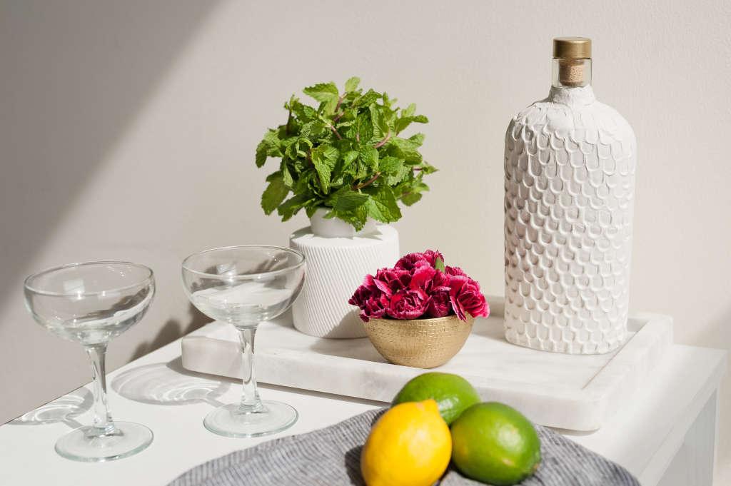 Bar Cart Basics: How To Reuse Liquor Bottles as Decanters