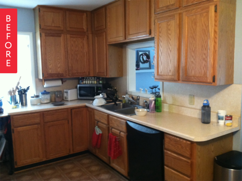 Before & After: A Fresh Kitchen Makeover For Under $500