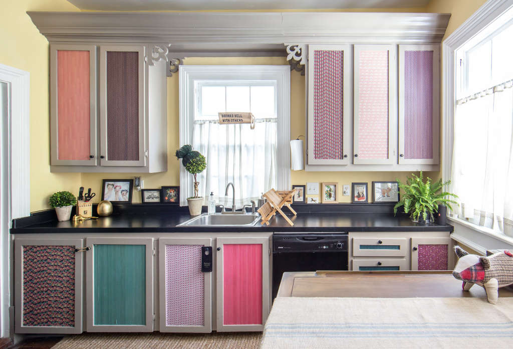 This Is How Much It Costs to Cover Cabinets in Washi Tape