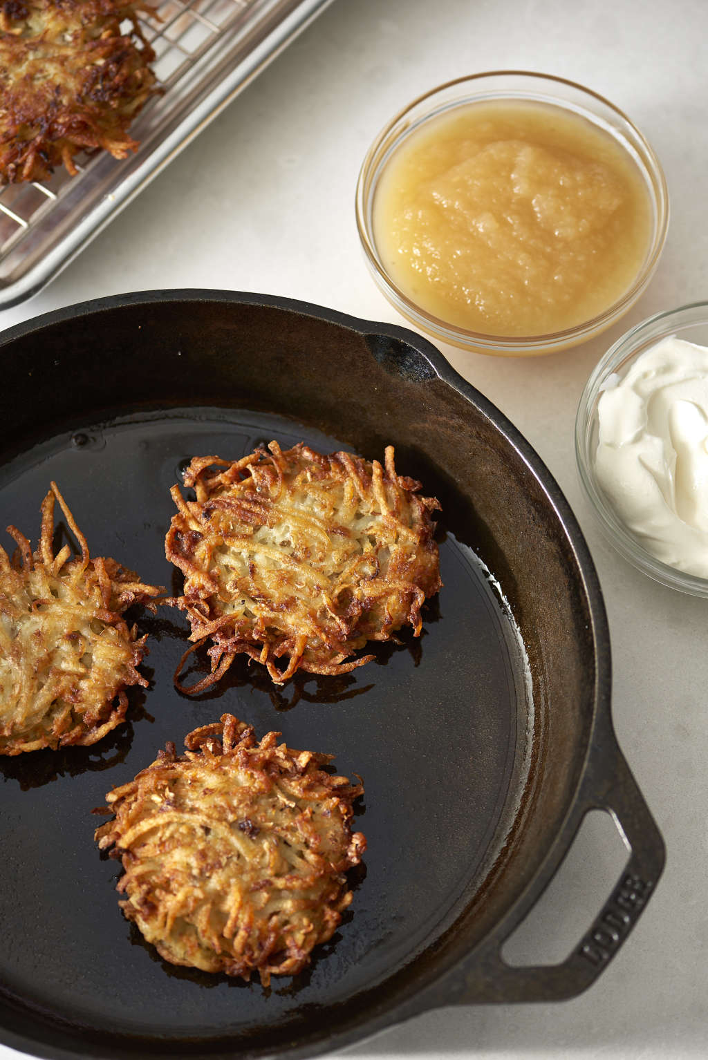 Crispy, Creamy Latkes Owe It All to the Fat They're Fried In