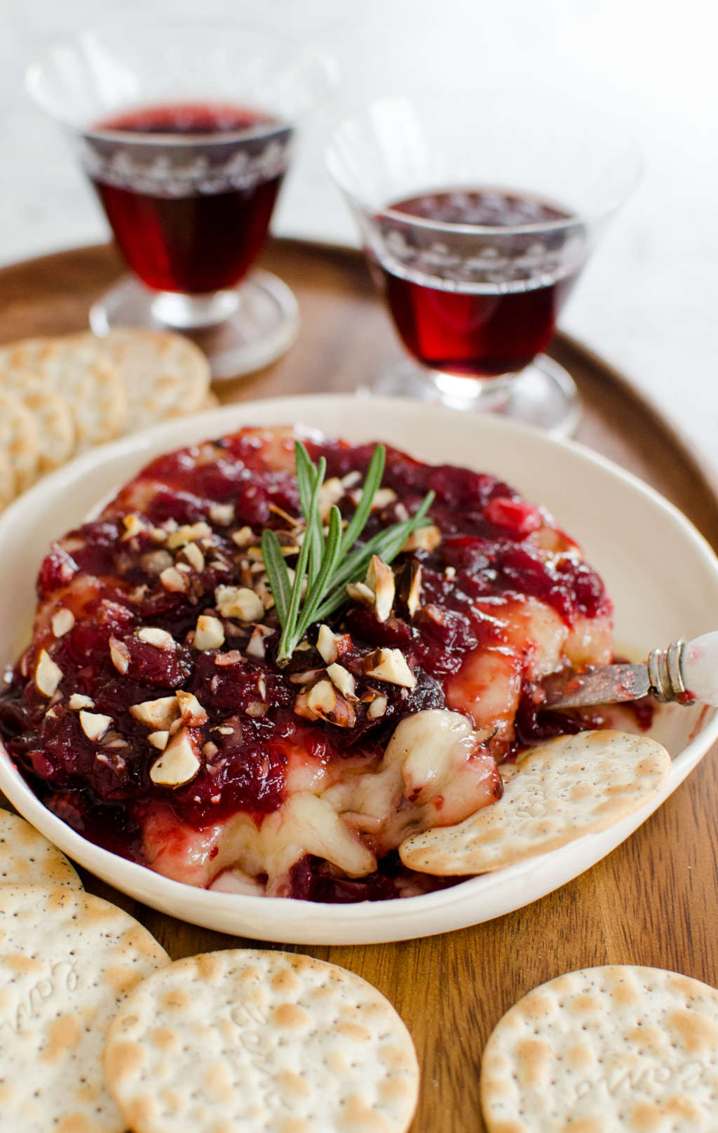Holiday Appetizer Recipe: Baked Brie With Cranberry Sauce