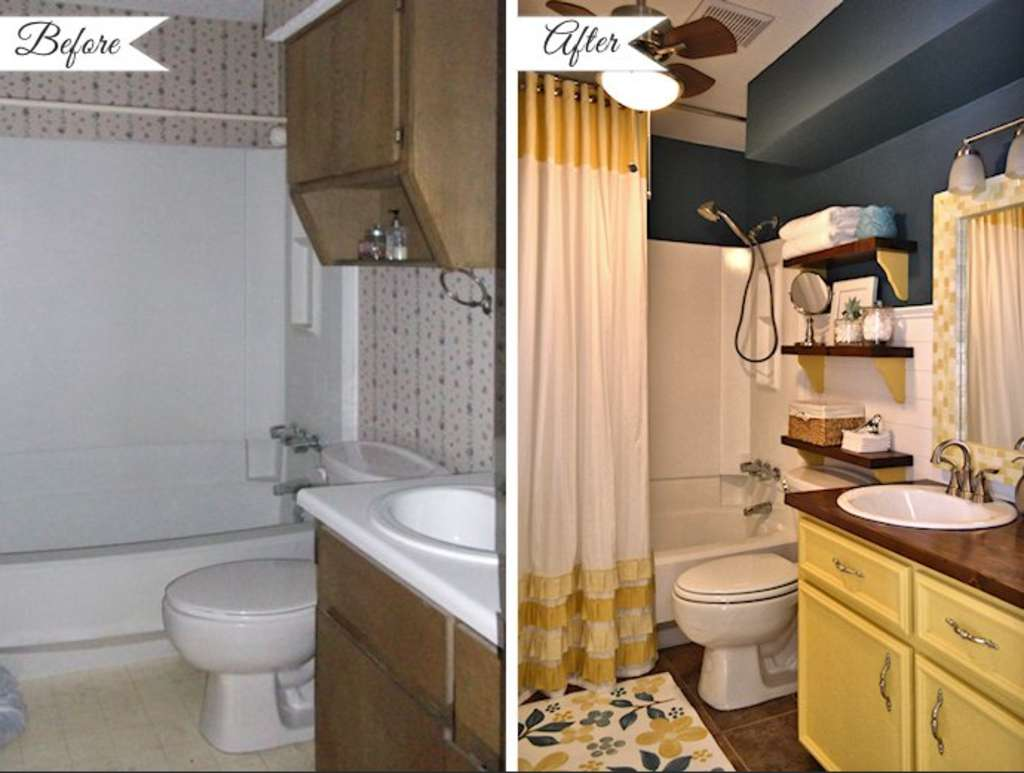 Before & After: 10 Bathroom Makeover Projects from Around the Web