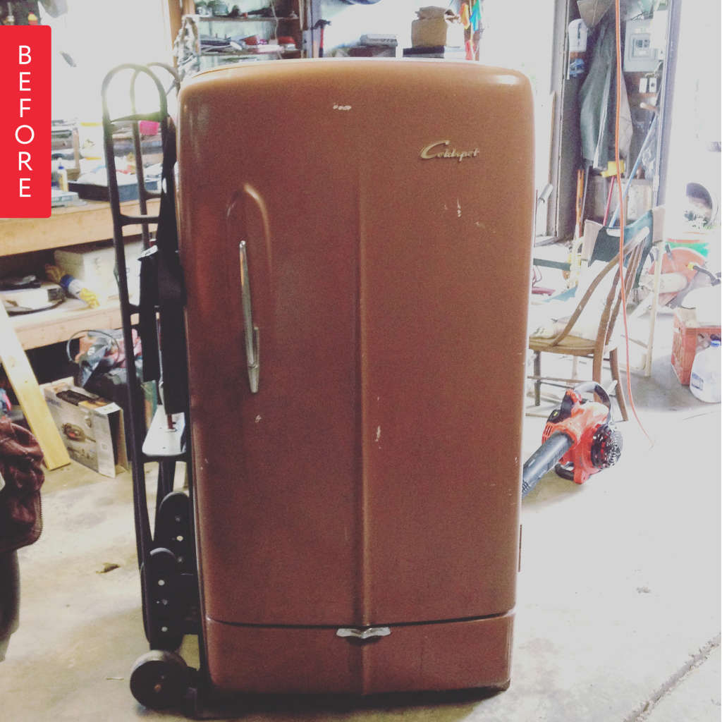 Before & After: Vintage Repainted Refrigerator