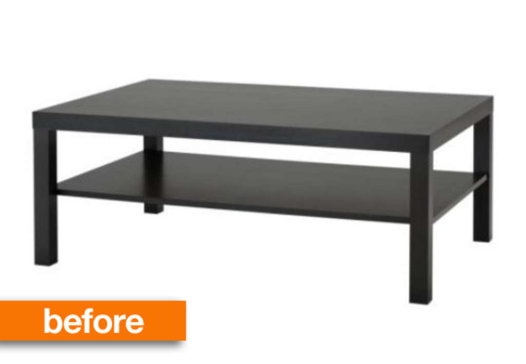 Before & After: IKEA Lack Coffee Table to Upholstered Ottoman