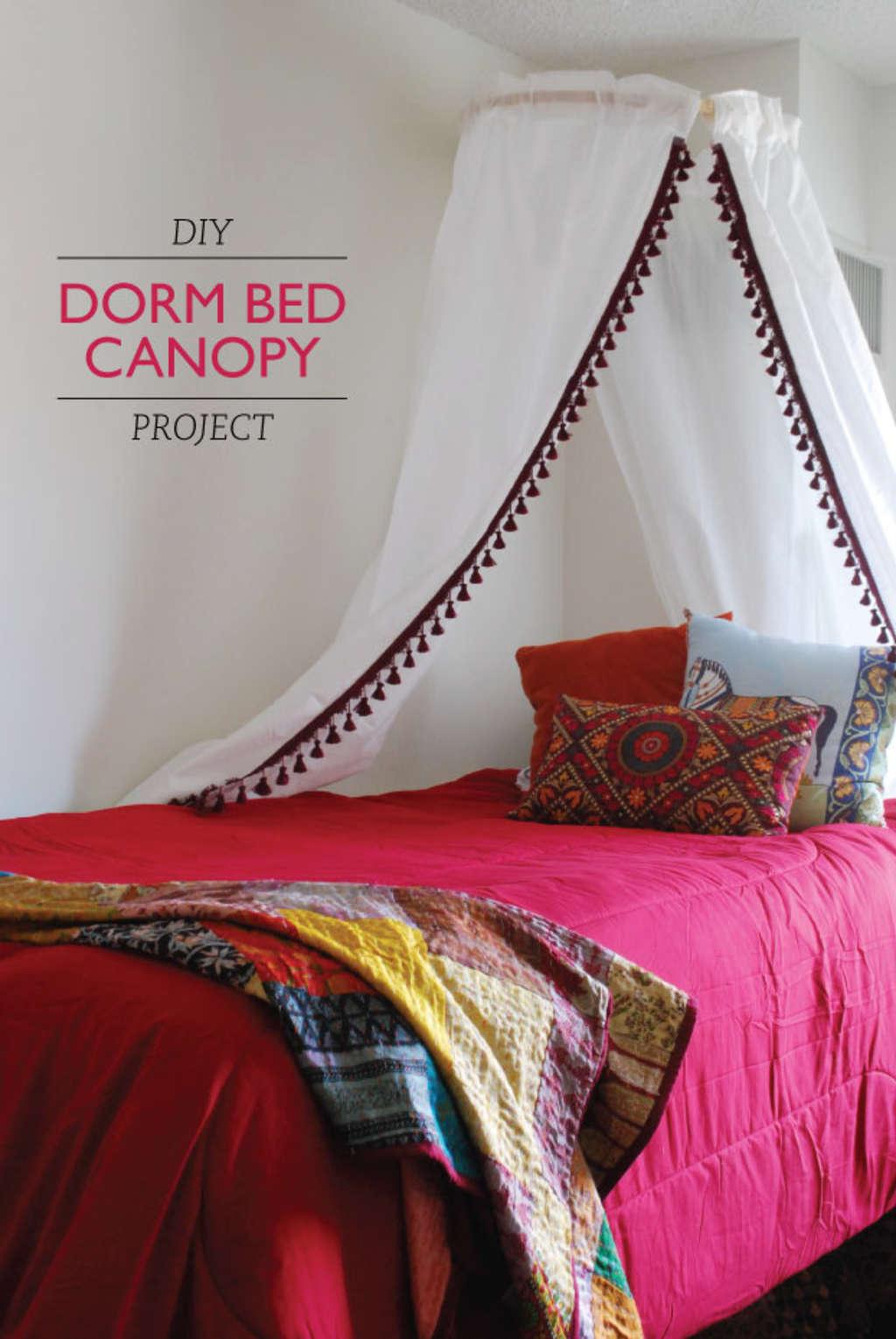 Get Laken's Look!: DIY Dorm Bed Canopy Project