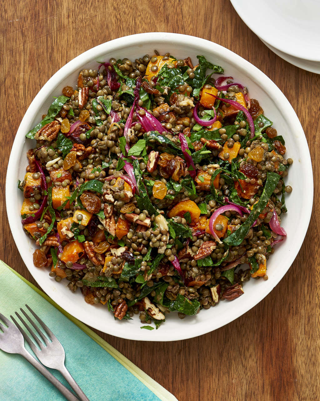Thanksgiving Lentil Salad: The One Vegetarian Main to Serve