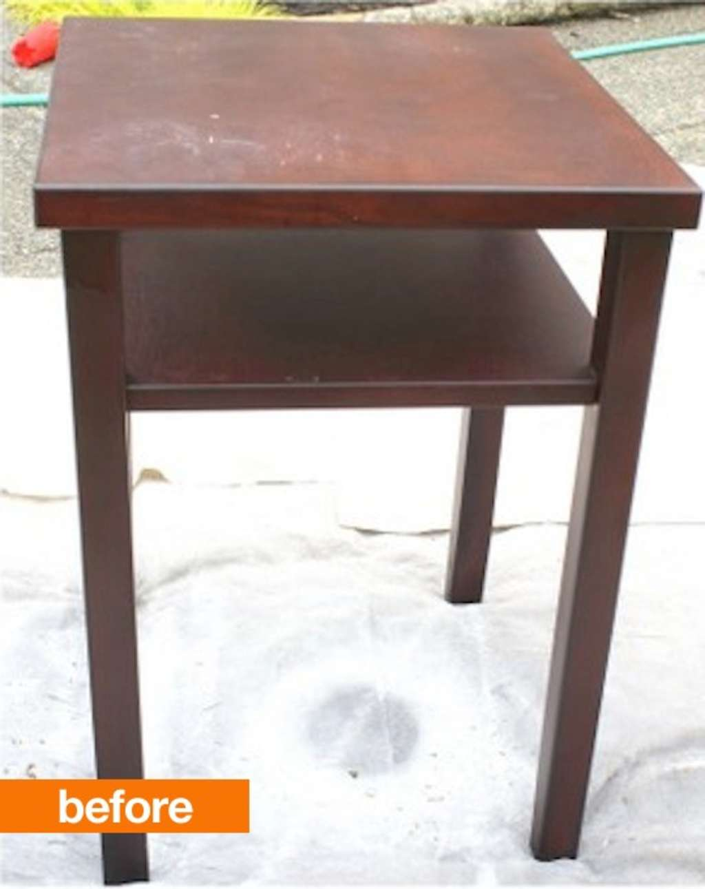 Before & After: Plain Jane Nightstand Gets a Reclaimed Wood Makeover