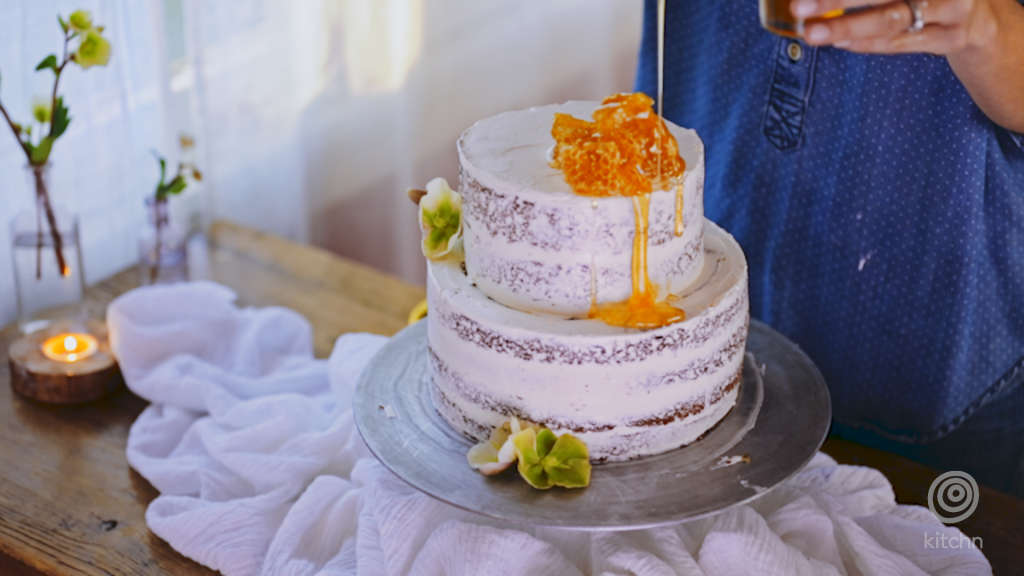 Watch Us Frost This Easy, Pretty Naked Cake