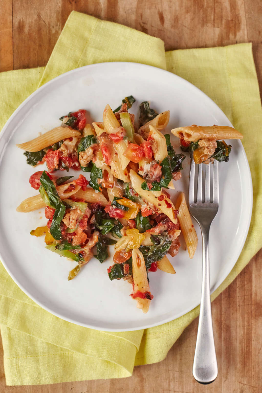 Get Your Veggies in with This Turkey & Greens Skillet Pasta