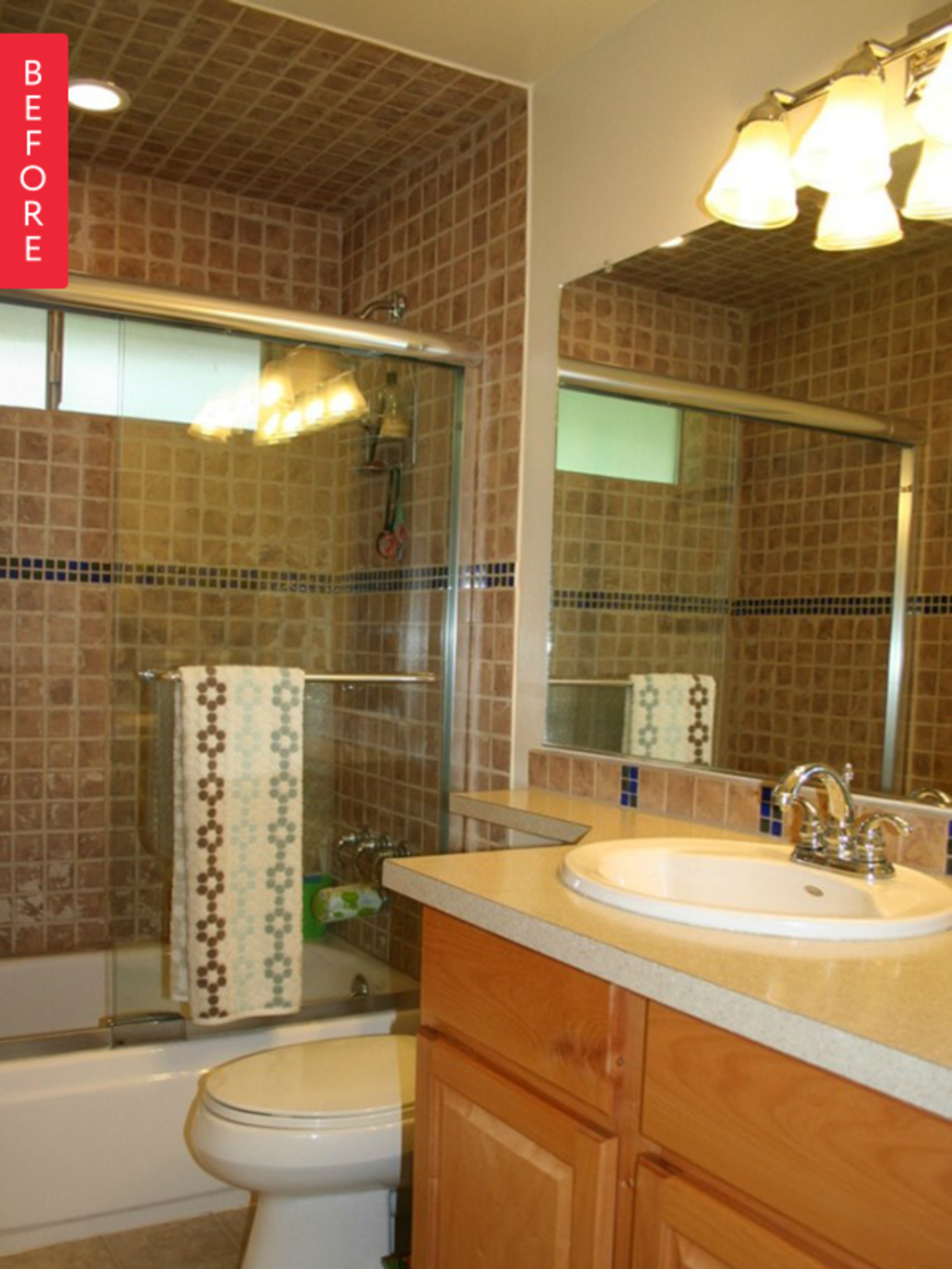 Before & After: A Brown Bathroom, Fantastically Refinished