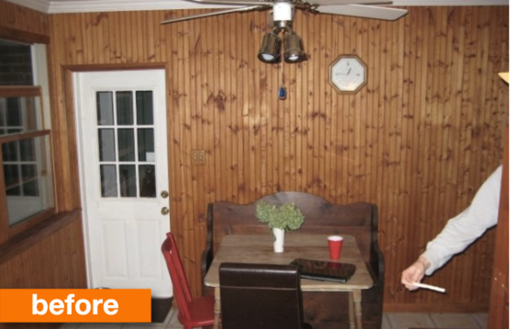 Before & After: A Dark Eat-in Kitchen Gets Brightened!