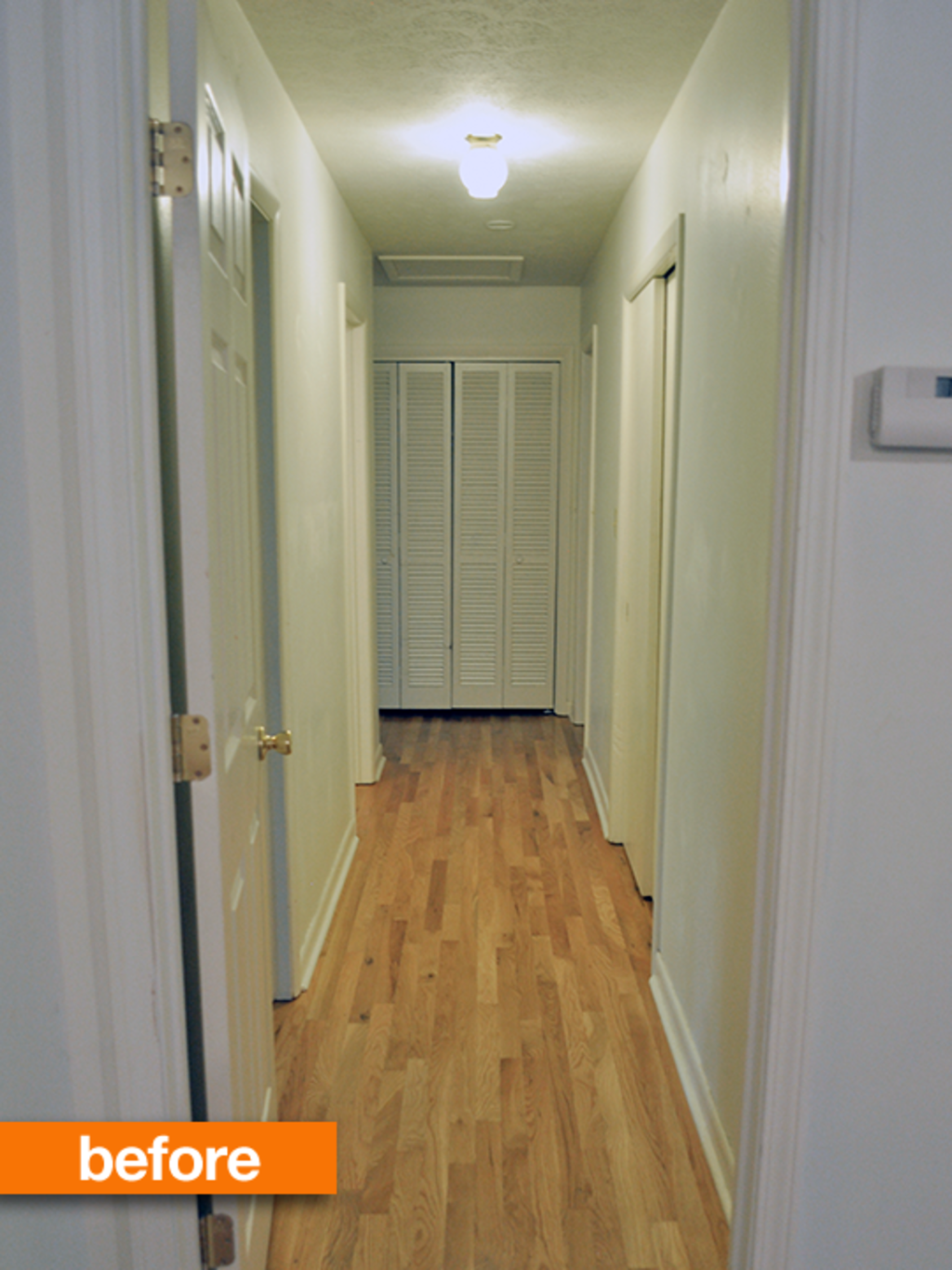 Before & After: Newly Painted Hallway is a Stroke of Genius