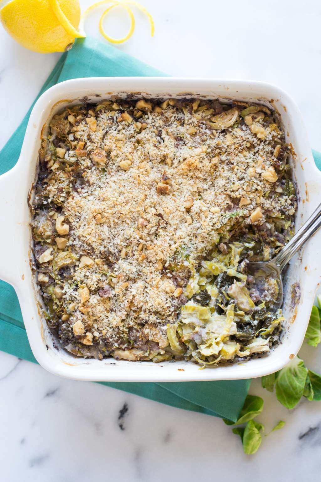 Recipe: Lemony Brussels Sprout Gratin