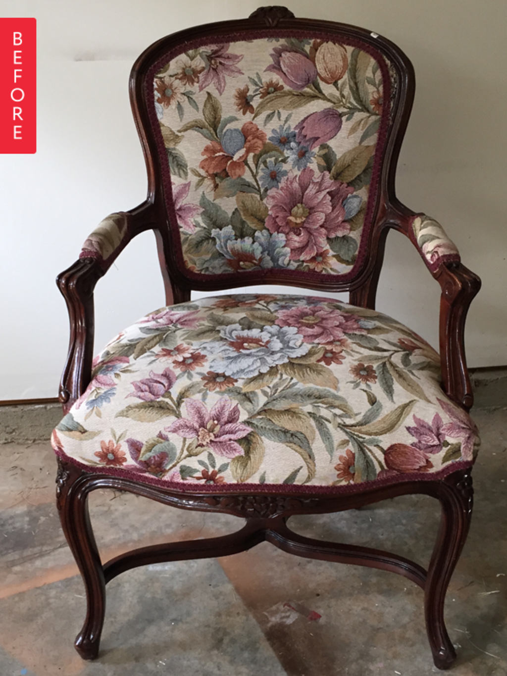 Before & After: Louis Chair Gets a Royal Makeover