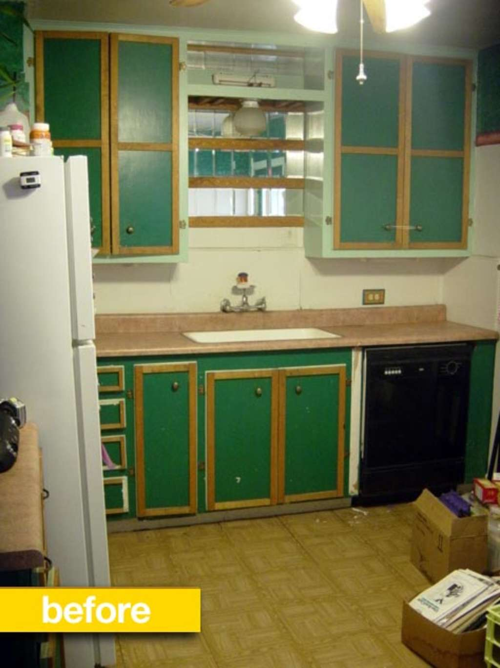 kitchen before after cheryl 39 s 39 very tight budget 39 diy redo kitchn. Black Bedroom Furniture Sets. Home Design Ideas